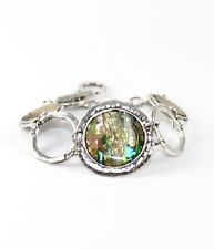 Silver and Faux Abalone FASHION Bracelet