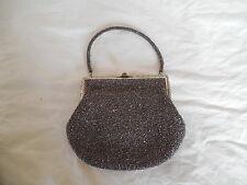 Vintage Mitsukoshi carnival glass beaded purse clutch lovely  piece Japan