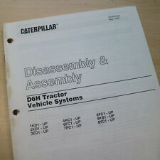 CATERPILLAR D6H Tractor System Disassembly Assembly Repair Shop Service Manual