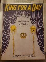 Vintage Sheet Music 1928 King for a Day Lewis & Young Ted Fiorito Remick Music