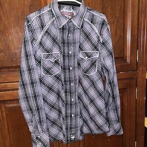 Rock 47 Wrangler Snap Up Long Sleeve Shirt