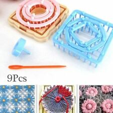9Pcs Flower Daisy Pattern Knitting Loom Maker Wool Yarn Needle Knit Tool Crochet