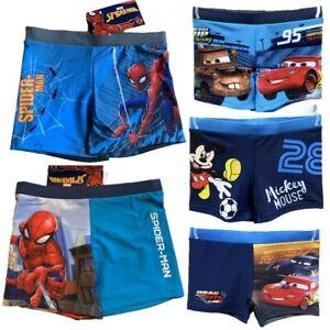 Boys Kids Spiderman Cars Mickey Swim Shorts Boxer Swimming Trunks 2-8 years