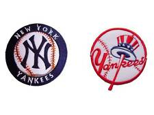 2 New York Yankees MLB iron on patches Embroidered Applique Badge Emblem.