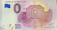 BILLET 0  EURO CITADELLE DE PORT LOUIS  2018  NUMERO 5000 DERNIER BILLET