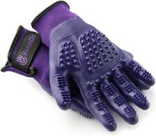 HandsOn Gloves (#Hglv102Pur_Sm) Pet Grooming & Bathing Gloves, Purple