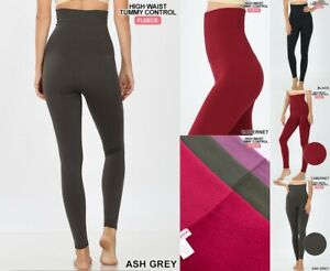 LOT OF 3 High Waist Compression Legging Warm Seamless Jeggings skinny pants S-XL