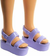 Barbie SHOES LAVENDER THICK FLAT  HEEL SANDALS WITH ANKLE STRAPS