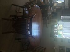 Vintage 20th Century Traditional Tell City Young Republic Round Dining Table