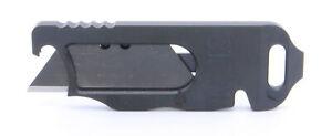 RUK V2 Aluminum Utility Knife Bottle Opener Screw Driver Black RUKV2BLK