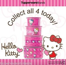 New Tupperware Hello Kitty One Touch 4pc Collection Set