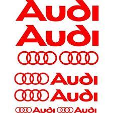 Kit de 10 Sticker Autocollant Audi  Rouge a02