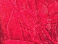 """Red Crushed Velvet Upholstery Drapery Fabric - BTY - 58""""/ 60"""""""