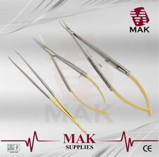 "MAK Castroviejo Spring Scissors / Needle Holder / Micro Forceps ""FREE EXPRESS"""