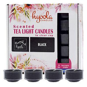 Hyoola, 6 Hour Scented Clear Plastic Tealight Candle (15 Pack) Christmas Gift