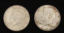 2 Kennedy Half Dollars 1964  Circulated Condition  Denver  Philadelphia   #12