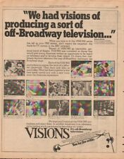 1976 Visions off-Broadway Television Drama PBS - Vintage Ad