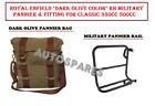 Royal Enfield Dark Olive Color RH Military Pannier & Fitting For Classic 350 500