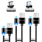Micro USB And Type C Magnetic Cable 3ft /6ft Android Charger 3 Pack With LED