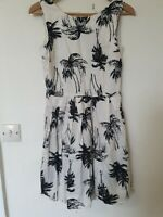 New Look Vintage Palm Tree Summer Dress Size 12