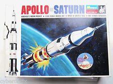1968 Apollo Saturn NASA Rocket BIG Model Kit MONOGRAM 1:144 Open Box  Vintage