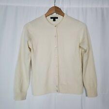 Land's End Cream 100% Cashmere Cardigan Size XS 2-4