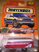Matchbox 2000 Outdoors Pop Up Tent Trailer Camp Trailer Pops Up & Down 1:64 NIP