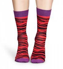Happy Socks - Socken - Zebra Socks rot / schwarz / lila - 36-40 + 41-46