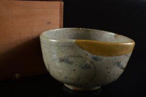 L8115: Korean L? Dynasty Blue&White TEA BOWL Green tea tool w/box Tea Ceremony