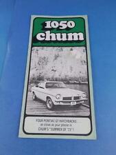 1050 CHUM RADIO STATION CANADA TOP 30 JULY 1973 PONTIAC GT HATCHBACK CONTEST