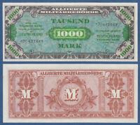 Alliierte Militärbehörde 1000 Mark 1944 KASSENFRISCH / UNC  Ro.207 c / P.198b