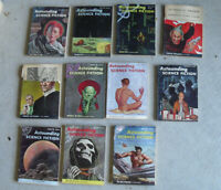 Lot of 11 Different Vintage 1954 Astounding Science Fiction Pulp Magazines