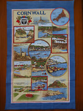 """New listing """"Cornwall"""" Cotton Tea Towel Made in Britain Signed Clive Mayor"""