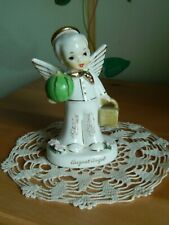 Vintage August  Boy Angel Napco Japan Birthday Month Series A1924