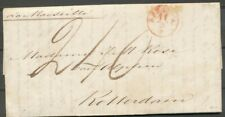 N.I.,ROOD KASTJE INDIE OVER MARSEILLE OP AZ.BRIEF BATAVIA 11/3 1854 - ROT- ZH754