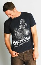 """Speedway """"BLOOD, SWEAT & NO BRAKES"""" illustrated T-SHIRT NEW"""