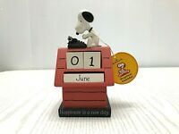 Hallmark Peanuts Snoopy HAPPINESS IS A NEW DAY typewriter perpetual calendar