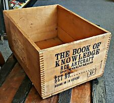 OLD VINTAGE WOOD BOX THE BOOK OF KNOWLEDGE ENCYCLOPEDIA SHIPPING CRATE ORIGINAL