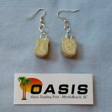 Hand-Crafted Real Deer Antler Jewelry - Earrings (at052)