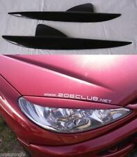 Headlights eyebrows for Peugeot 206 206CC Eye brows lid mask cover eyelids cover