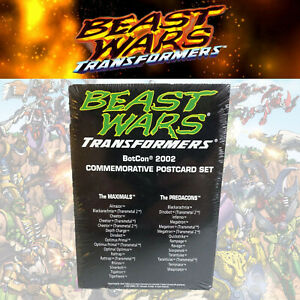 Beast Wars Transformers BotCon 2002 Commemorative Postcard Set MISP 30pc