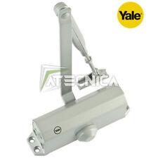Chiudiporta YALE serie 3000 60-11 argento molla chiusura automatica porta 1,1mt