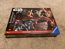 Disney Star Wars The Force Awakens 4 X 100 Piece Jigsaw Puzzle Bumper Pack, New.