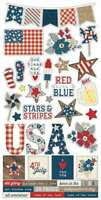 "Simple Sets Let Freedom Ring Cardstock Stickers 6""X12""   811958033244"