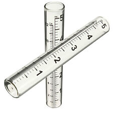 5' Capacity Glass Rain Gauge Protable Replacement Tube Outdoor Home Garden Yard