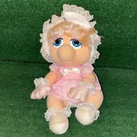 Vintage 1985 Hasbro Softies Muppet Babies Miss Piggy Plush Figure Toy Pawtucket