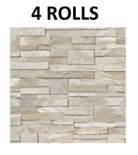 Sand Slate Stone Wallpaper 3d Brick Effect Washable Vinyl Grandeco X 4 Rolls