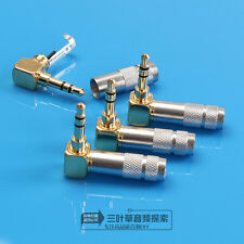 HIFI Right Angle Gold Plated 3.5mm Stereo Mini Jack Plug Connector