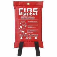 New Quick Release Home & Office Safety Large Fire Blanket In Case 1m X 1m