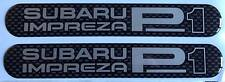 Prodrive Subaru Impreza P1 -  Side Bump Strip Carbon Design Domed Gel Badges X 2